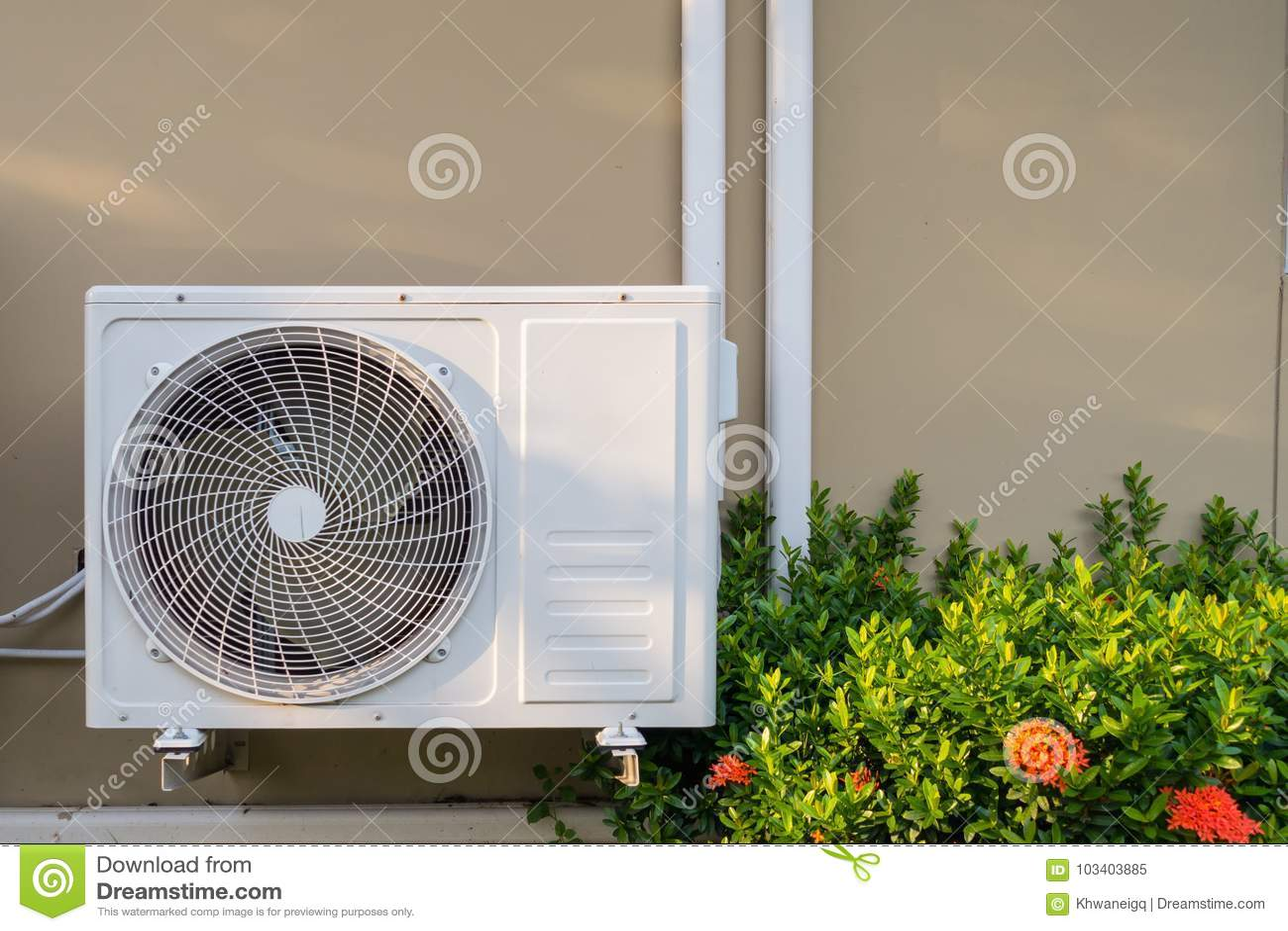 在buildin墙壁上埋置的空调系统设施