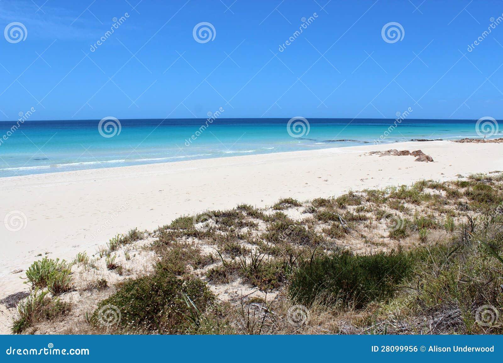 在Busselton西方澳洲的空白沙子