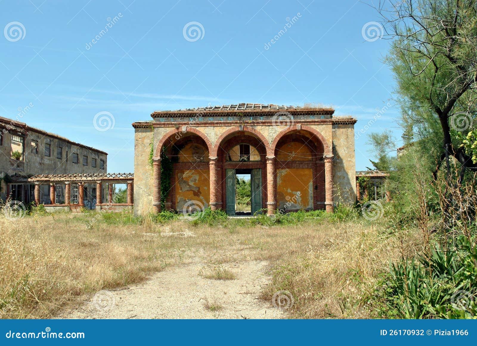 在Calambrone的废墟