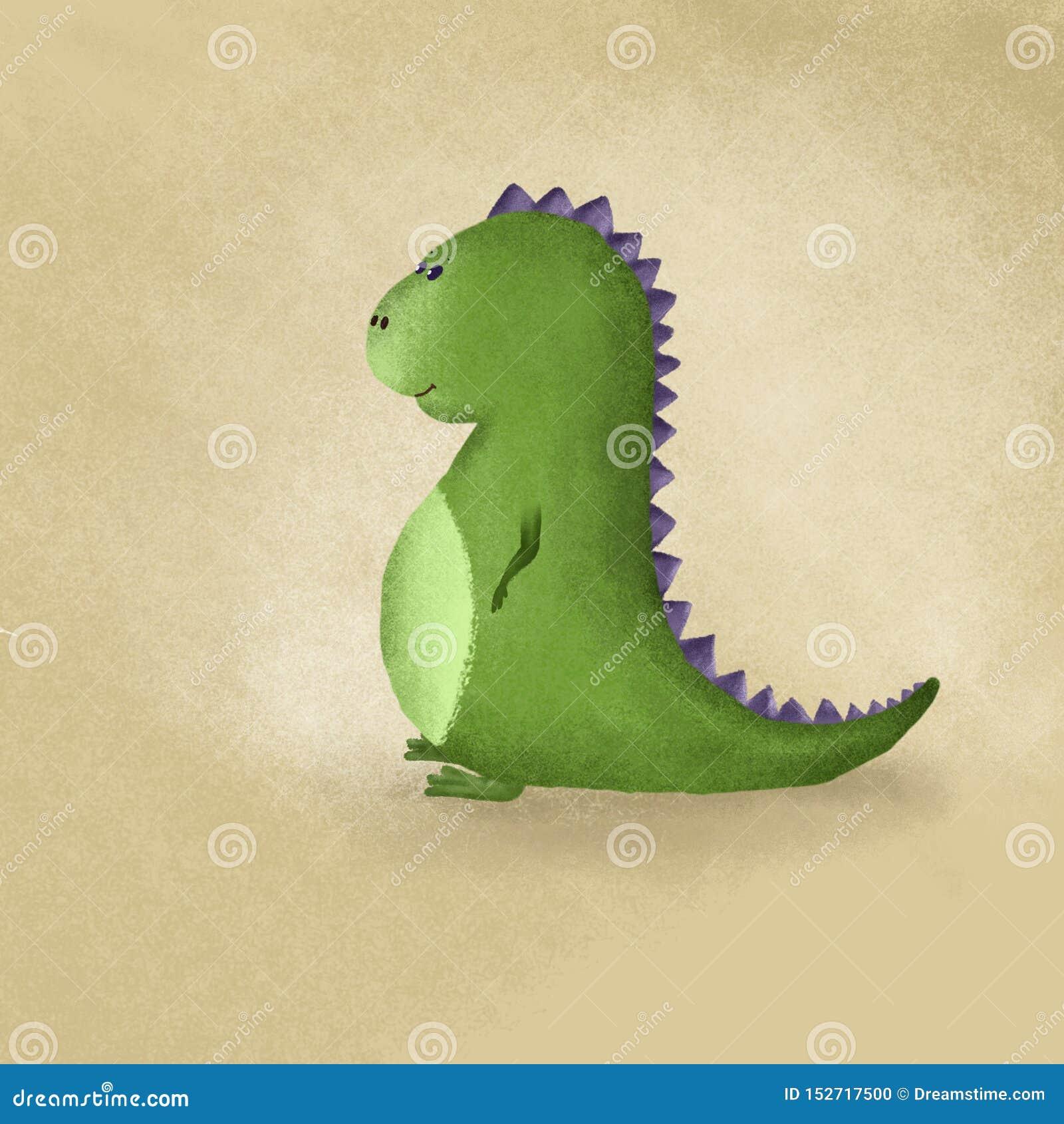 在CARTOOM做的逗人喜爱的恐龙称呼可爱和俏丽