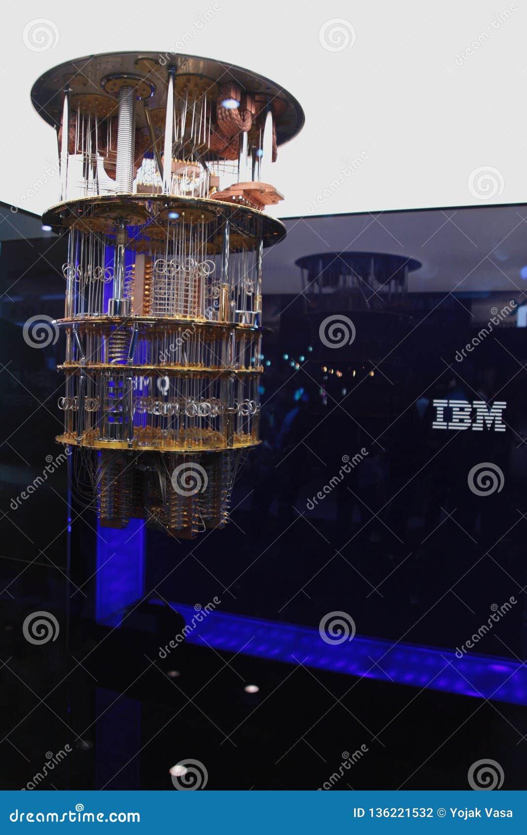 在CES的IBM Quantum计算机2019年