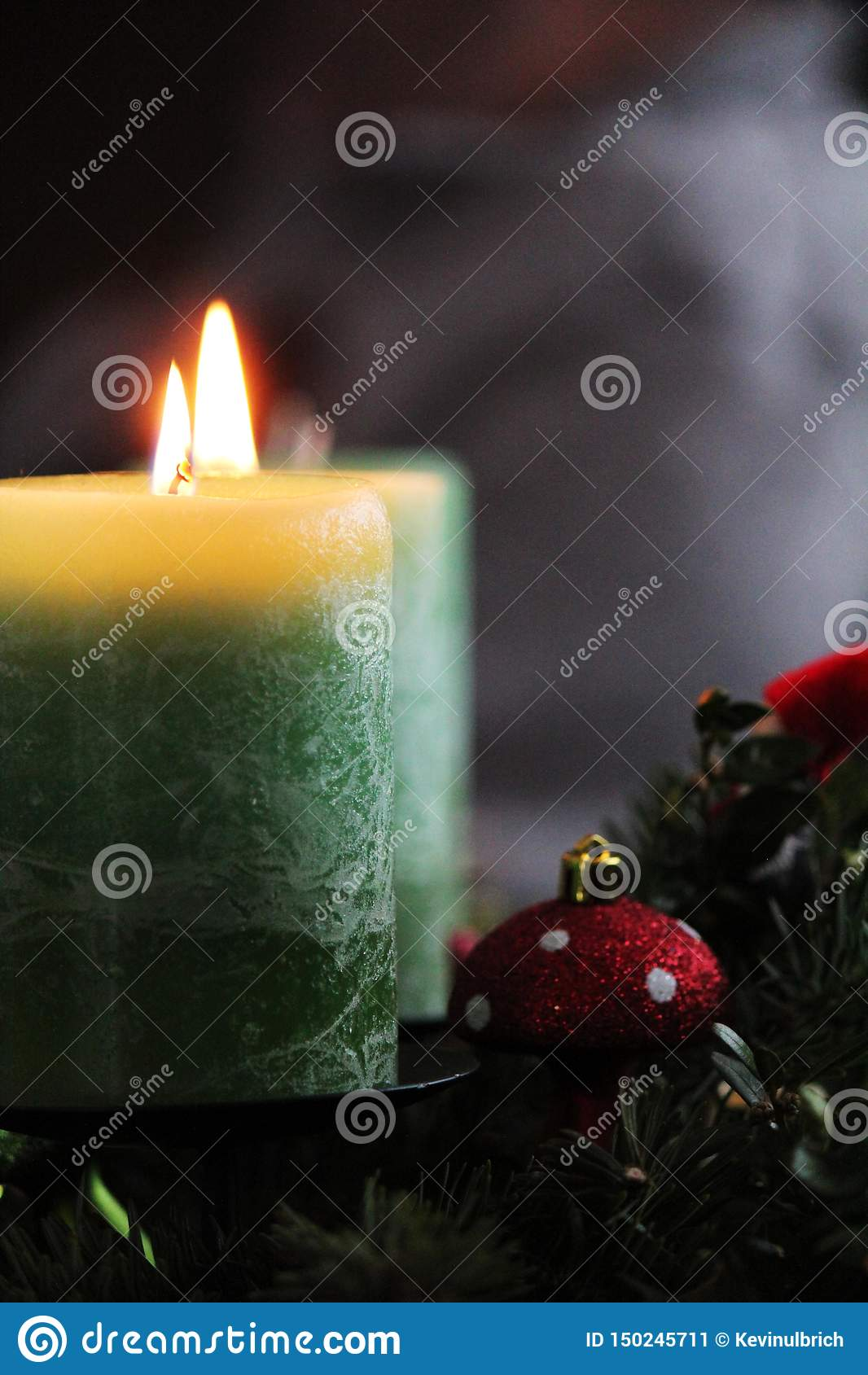 在christmastime的蜡烛