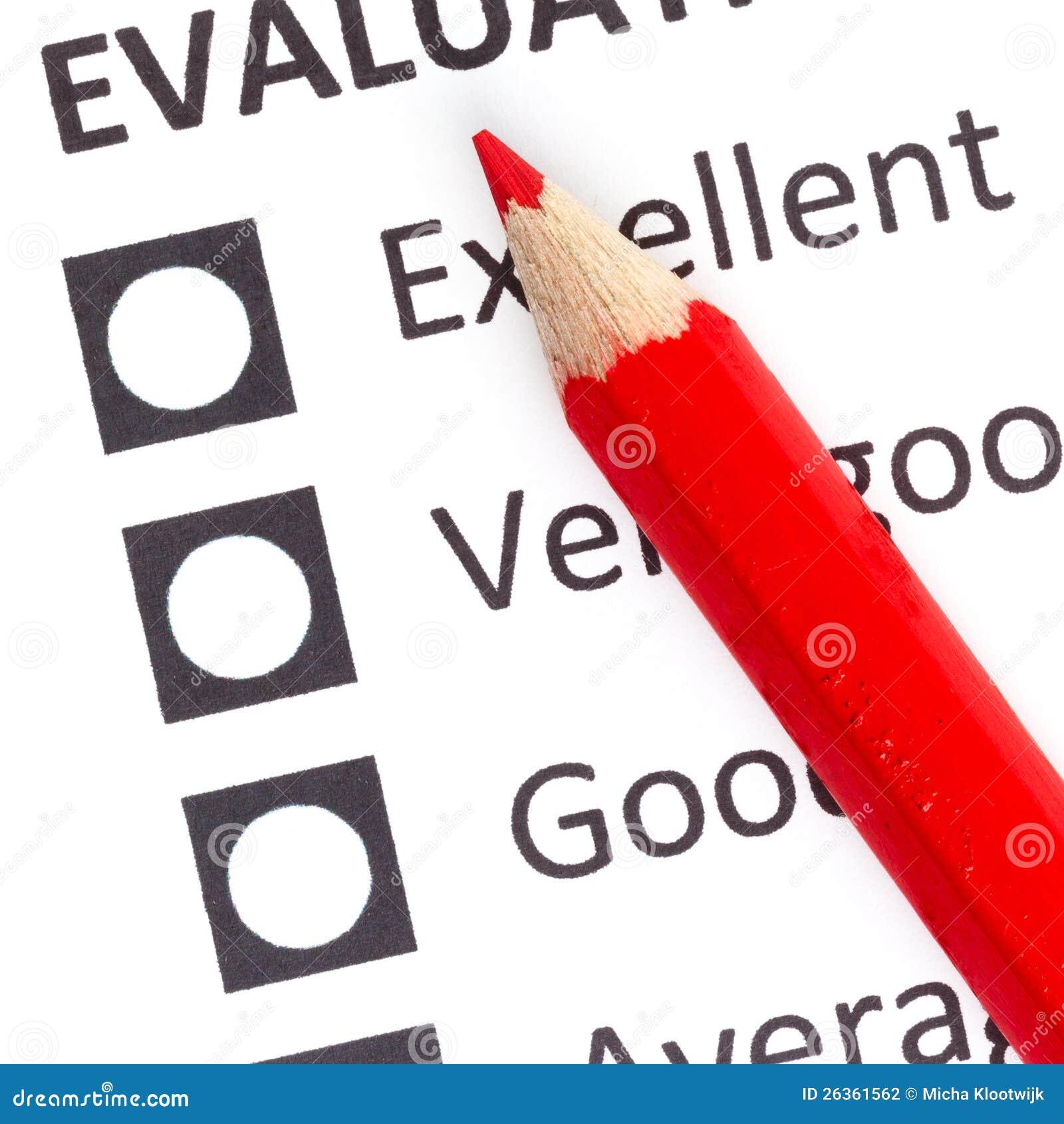 在evaluationform的红色铅笔