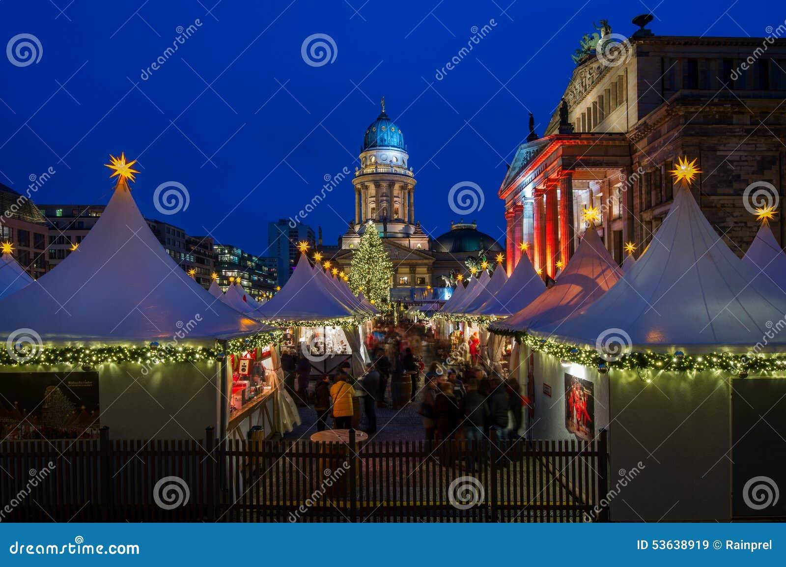 在Gendarmenmarkt的圣诞节在柏林,德国