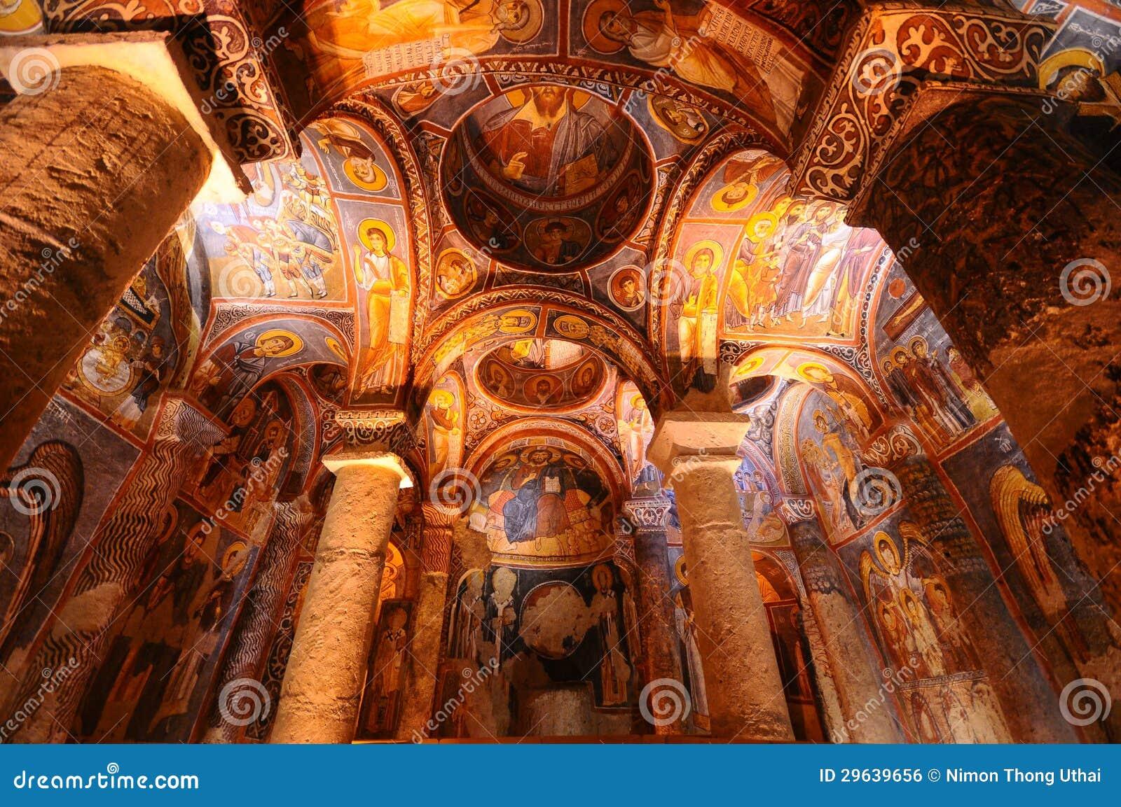 在goreme, Cappadocia的古老壁画