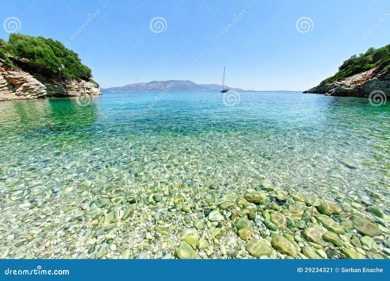 在Kastos海岛的海湾