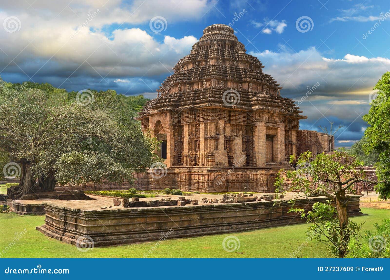 在Konark的太阳寺庙,印度