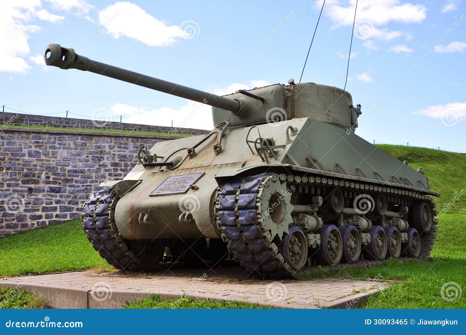 在La Citadelle的WWII坦克在魁北克市,加拿大
