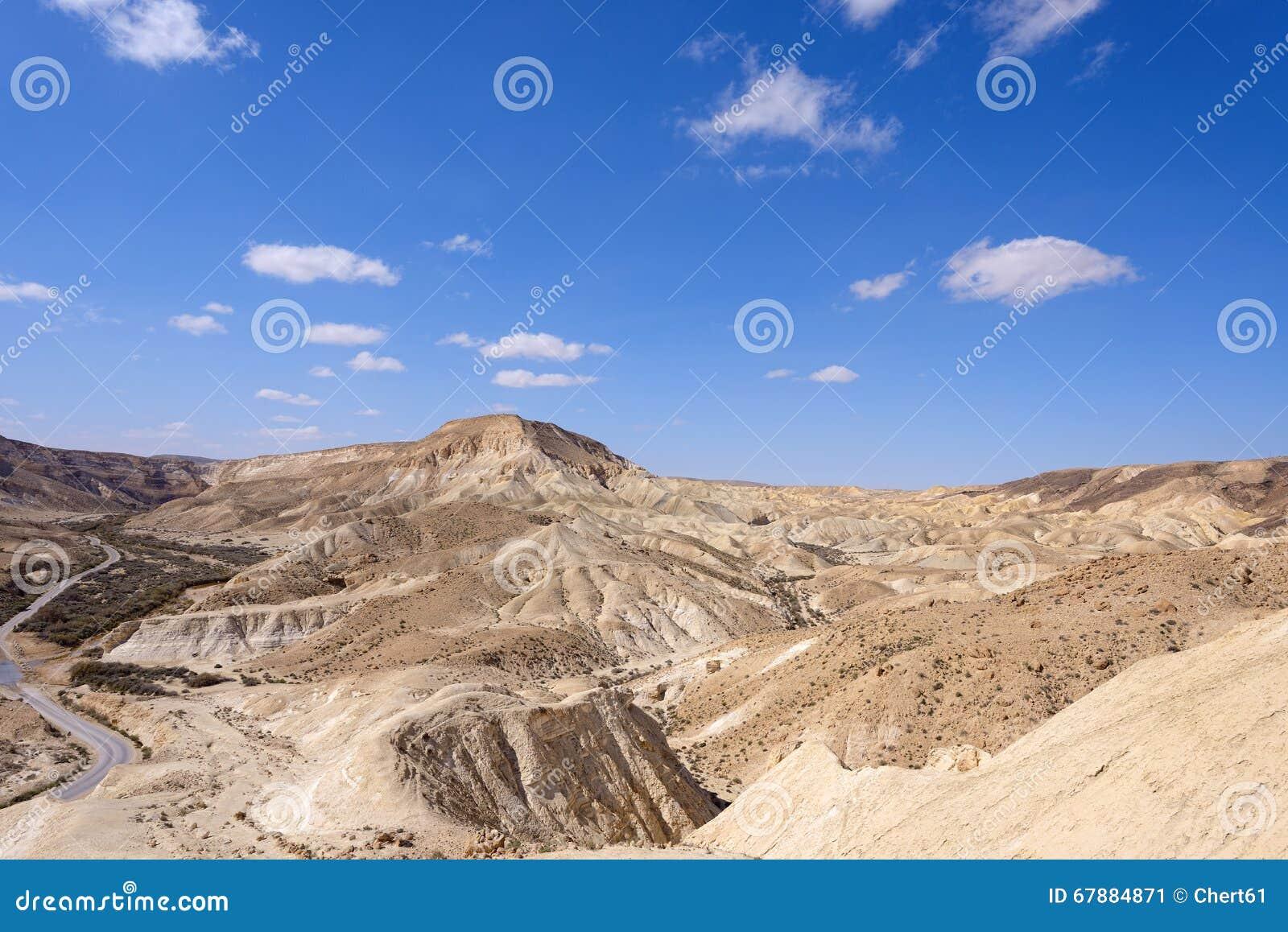 在Neqev沙漠的Ein Avdat峡谷