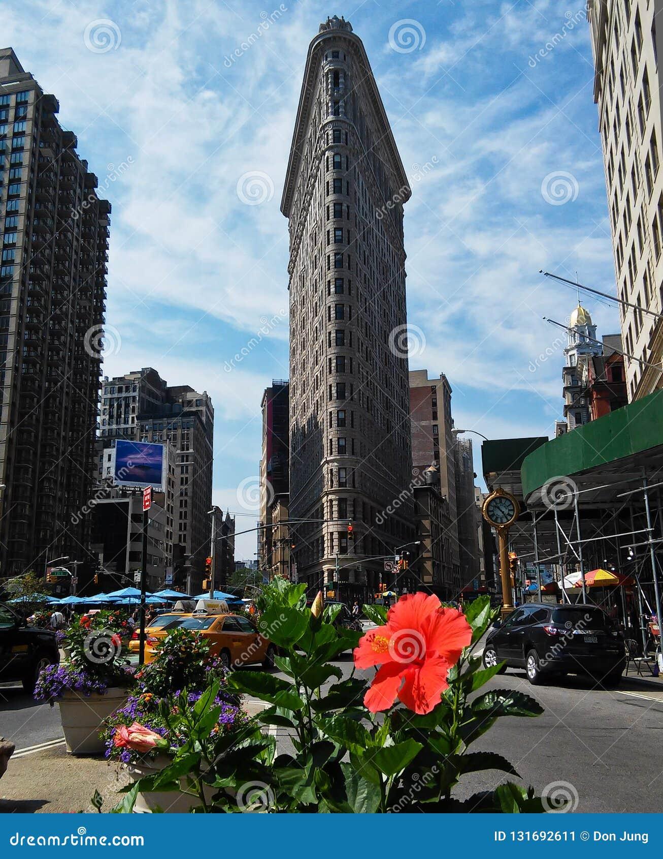 在NYC的Flatiron大厦在夏天2015年7月