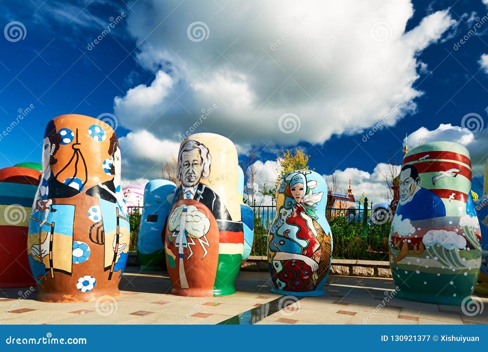 在NZH满洲里的matryoshka玩偶在内蒙古,中国