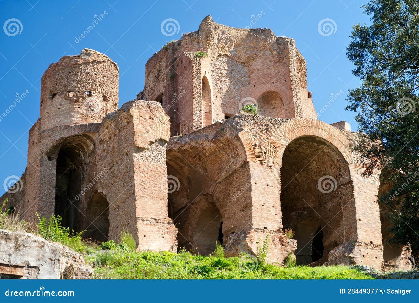 在Palatine小山的废墟在罗马
