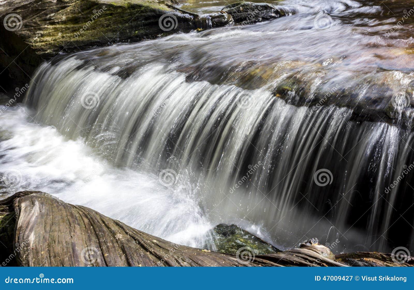 在Phu Kradueng国家公园的微型瀑布