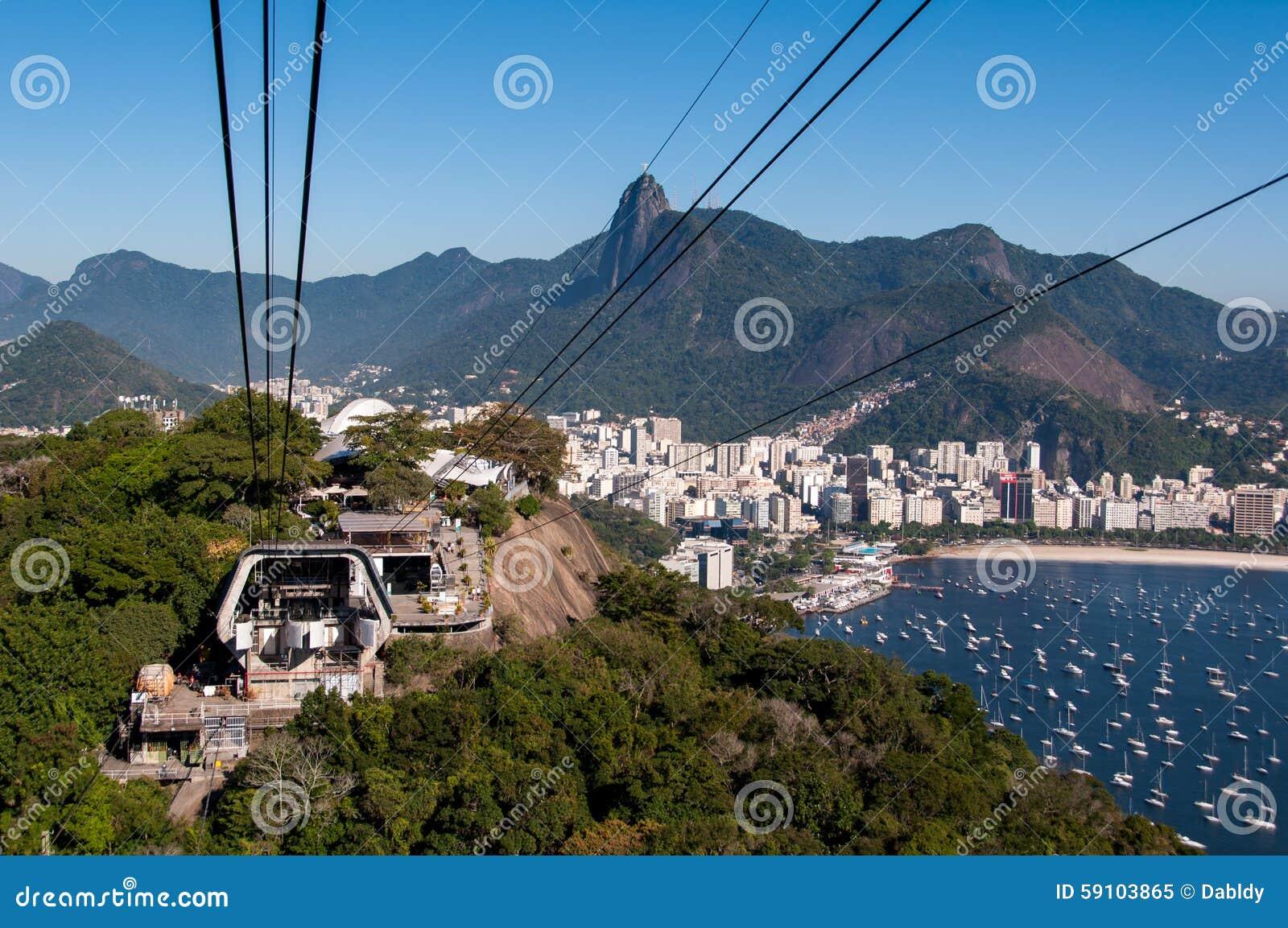 在Urca山的缆车驻地