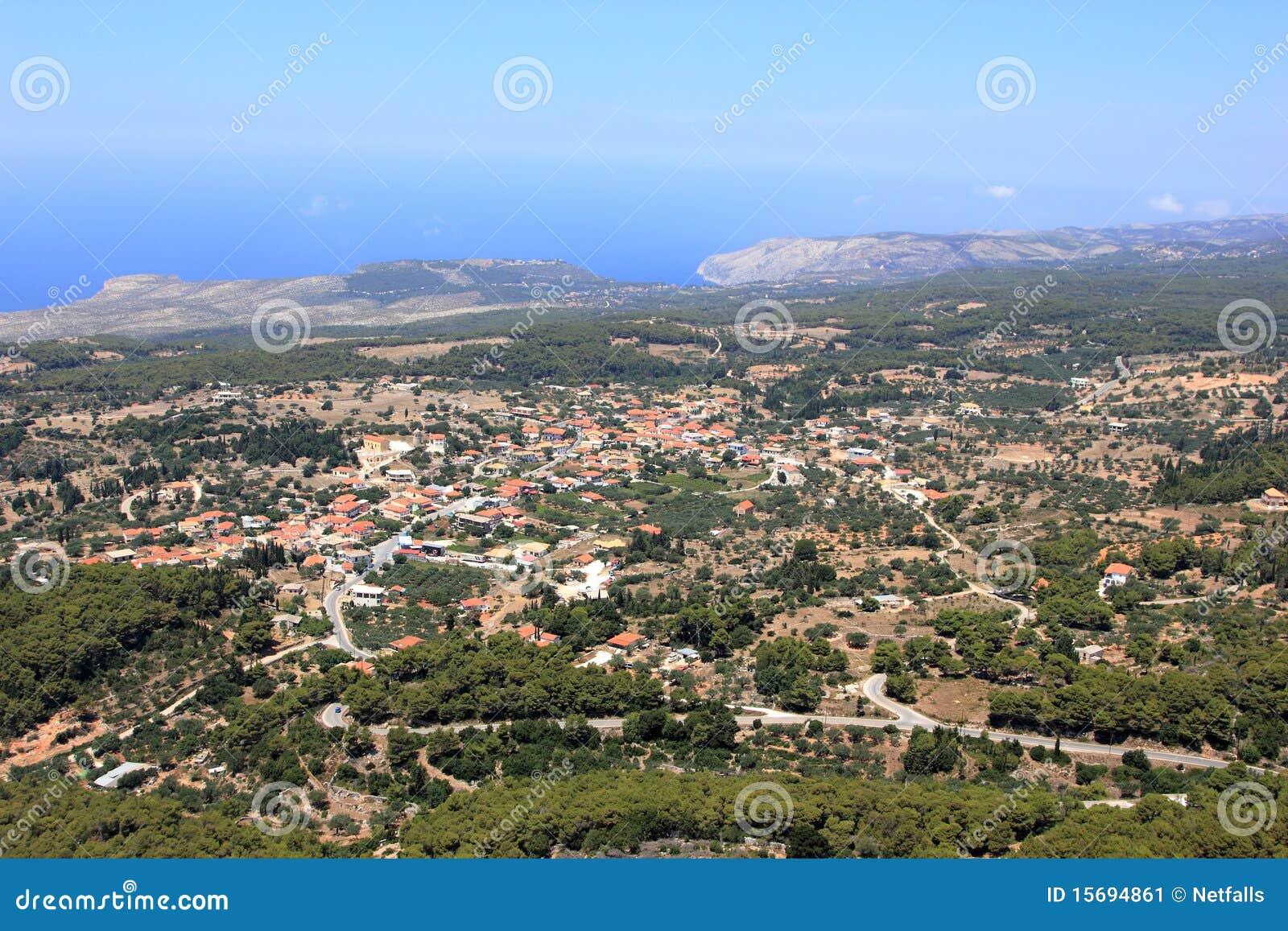在Zakynthos海岛的概览