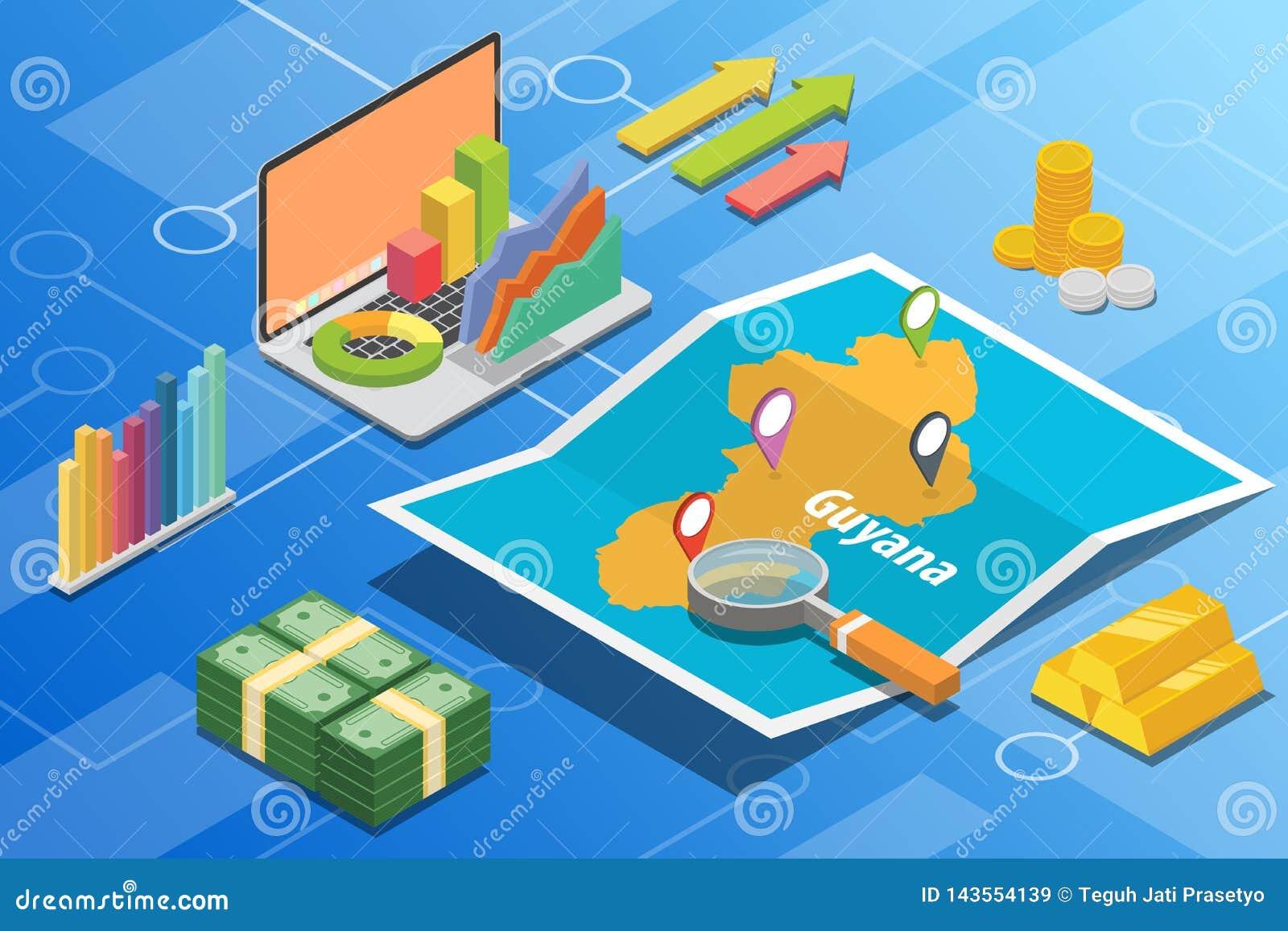 圭亚那等量企业经济成长国家以地图和财务情况-传染媒介