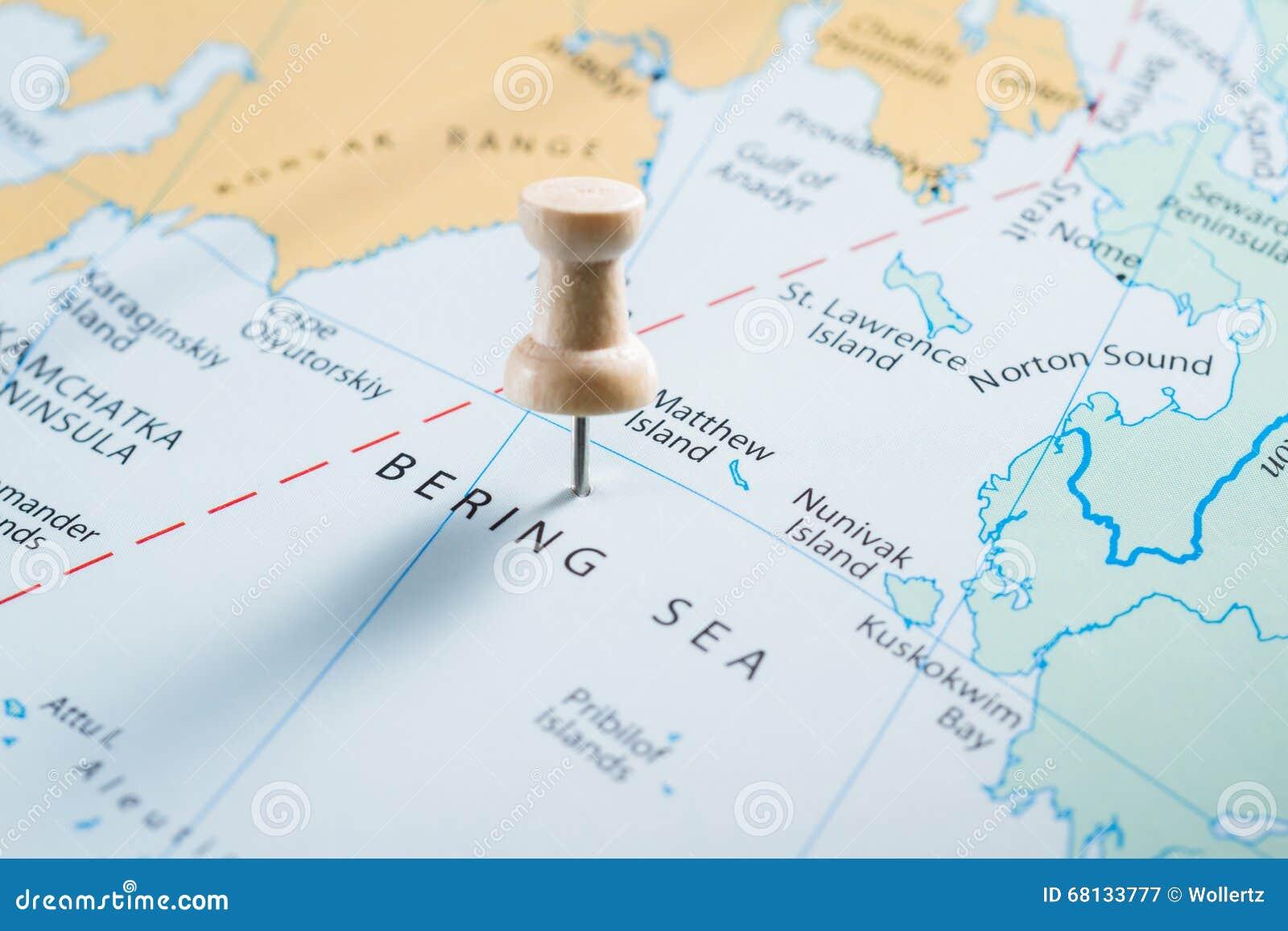 地图的白令海