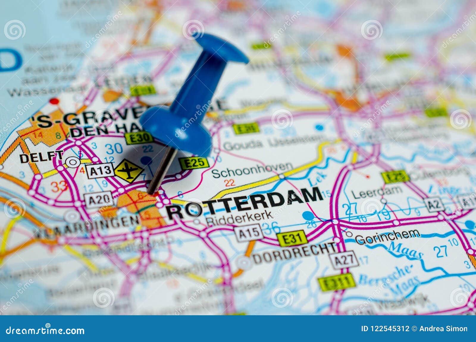地图的鹿特丹