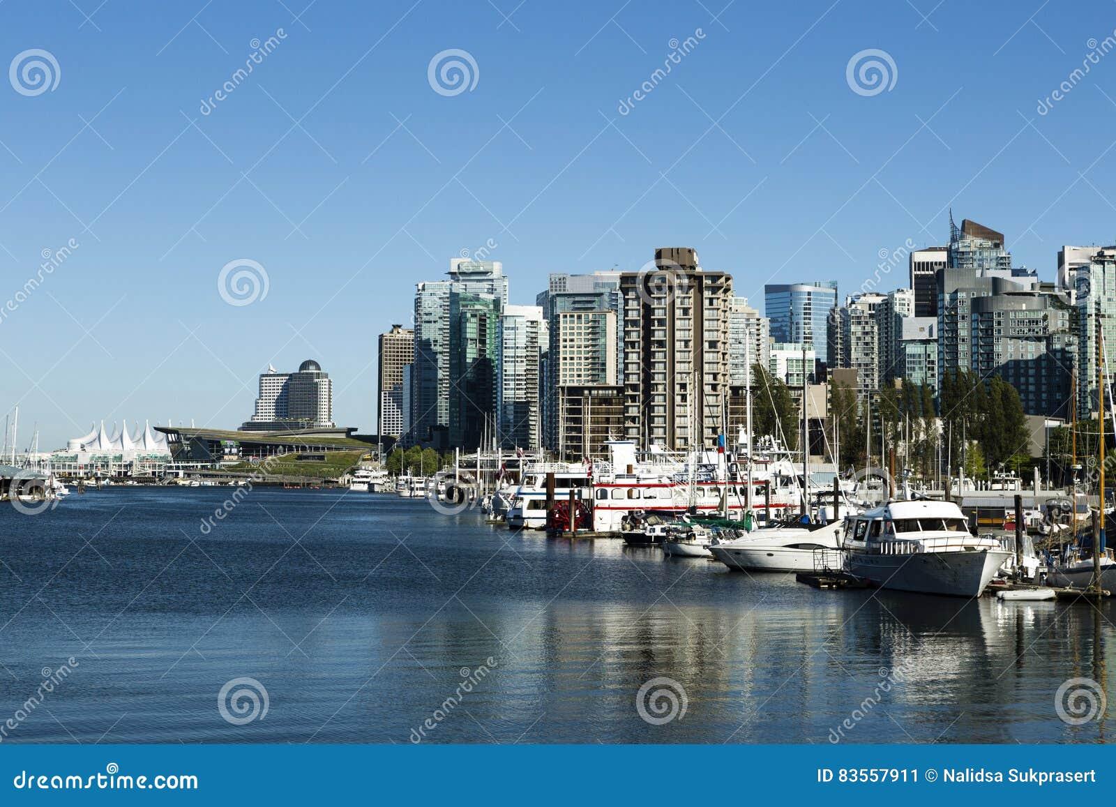 地平线都市风景温哥华不列颠哥伦比亚省加拿大