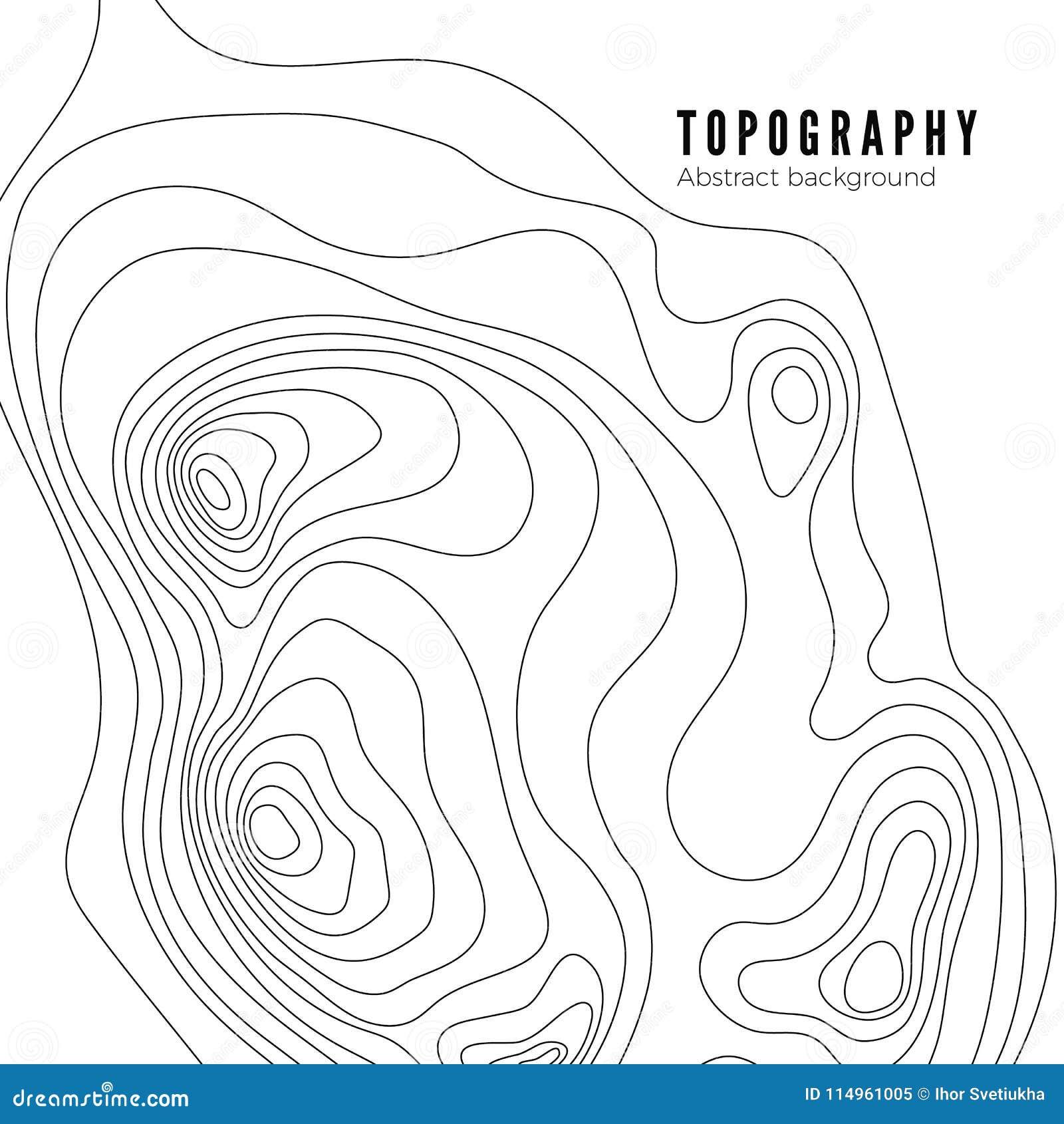 地形图等高背景样式 等高风景地图概念 抽象地理世界地势地图