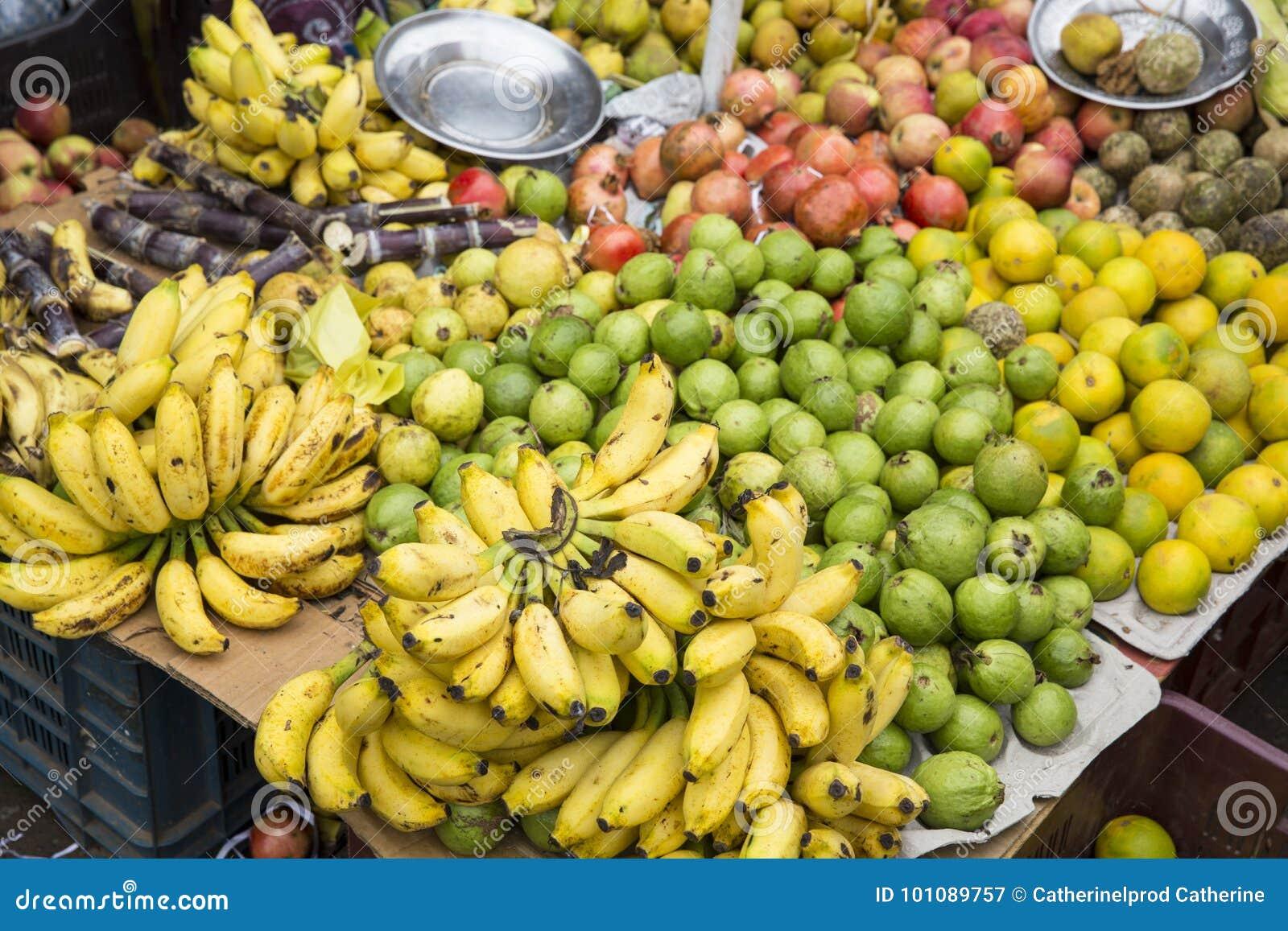 地方水果市场在印度