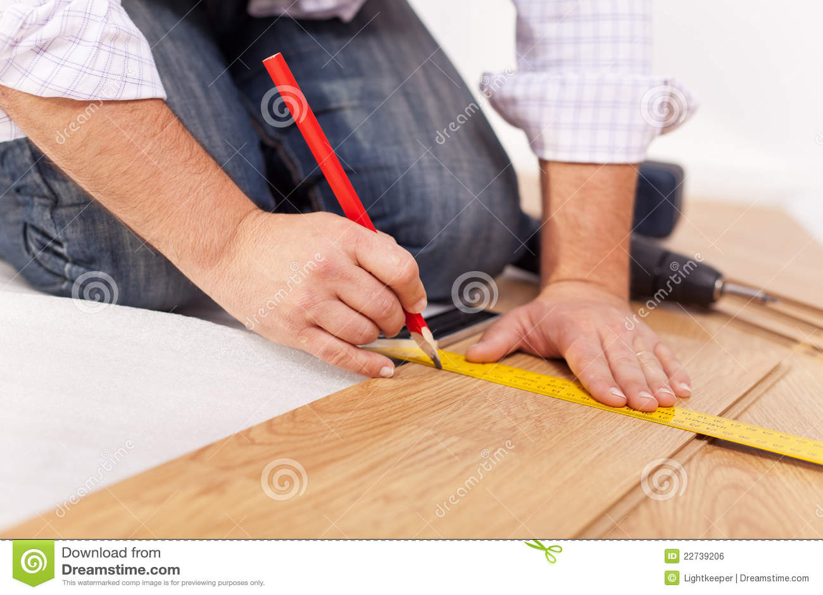 地板住所改善层压制品放置