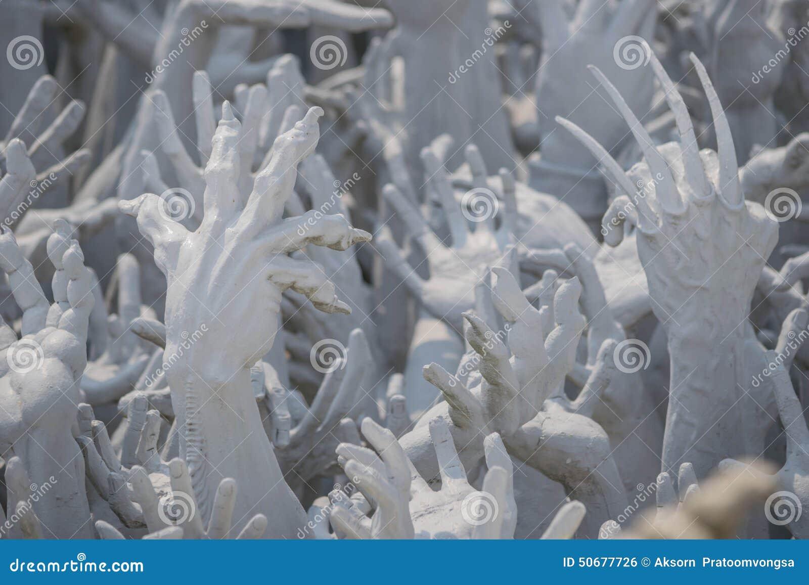 Download 从地狱的手雕象在Wat荣Khun,泰国 库存照片. 图片 包括有 现有量, 精神, 聚会所, 地狱, 雕象 - 50677726