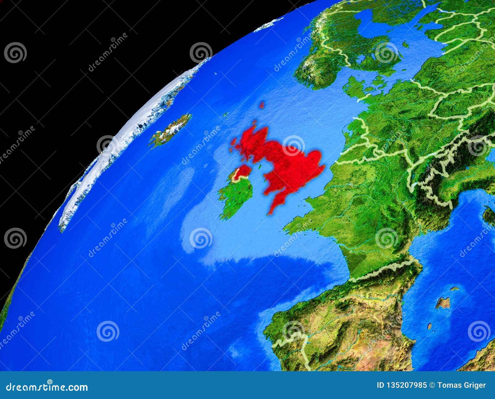 地球上的英国从空间