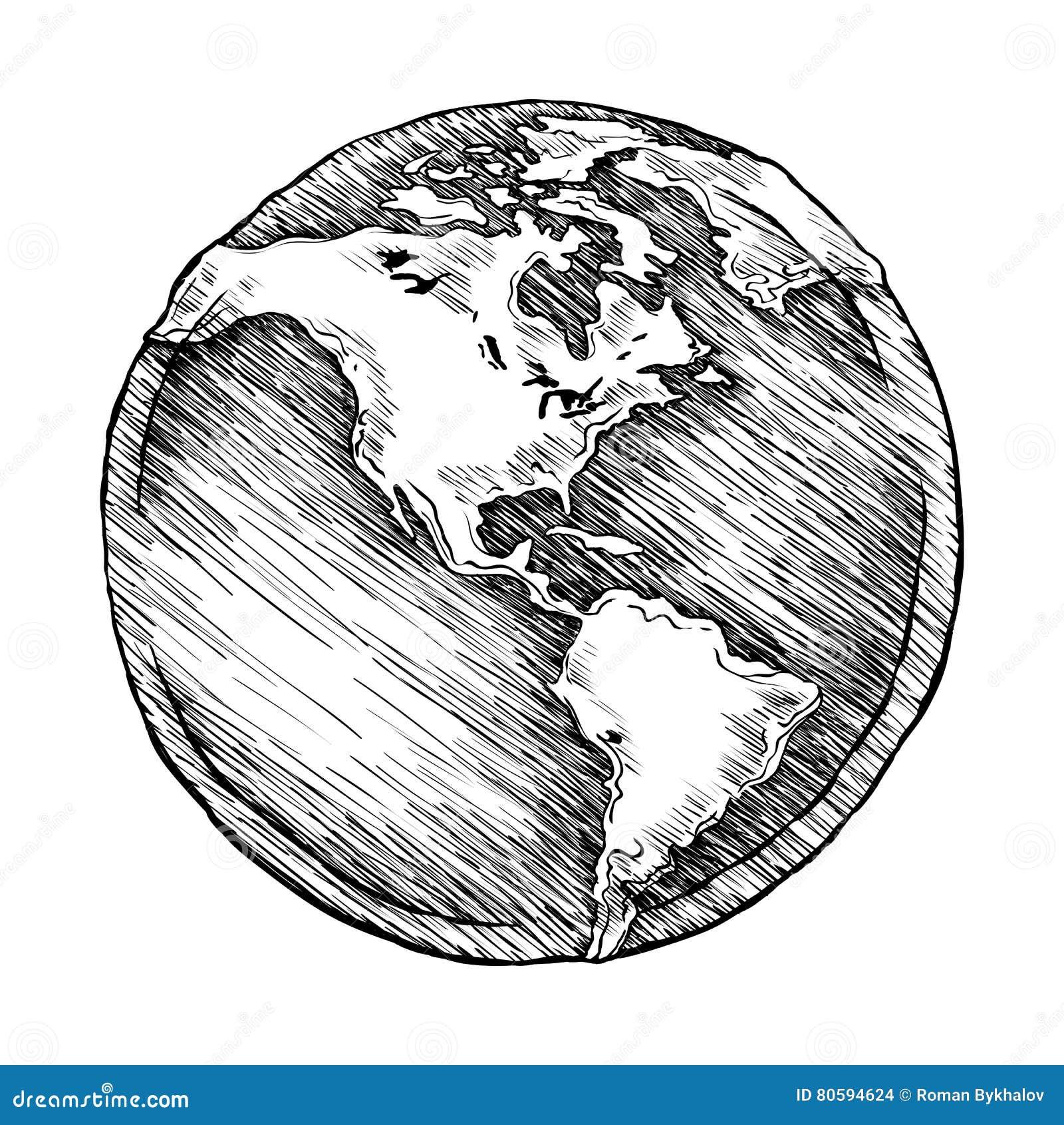 地球外形图传染媒介例证概略