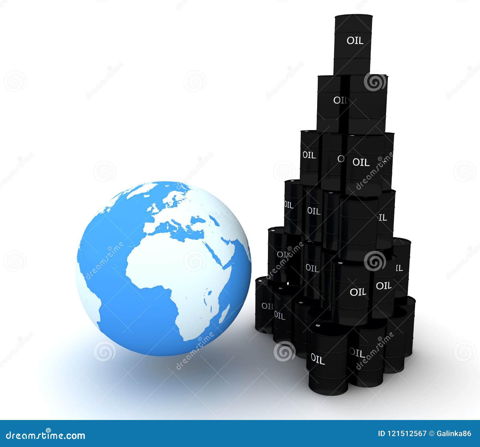 地球是油污染-概念性图象的危险