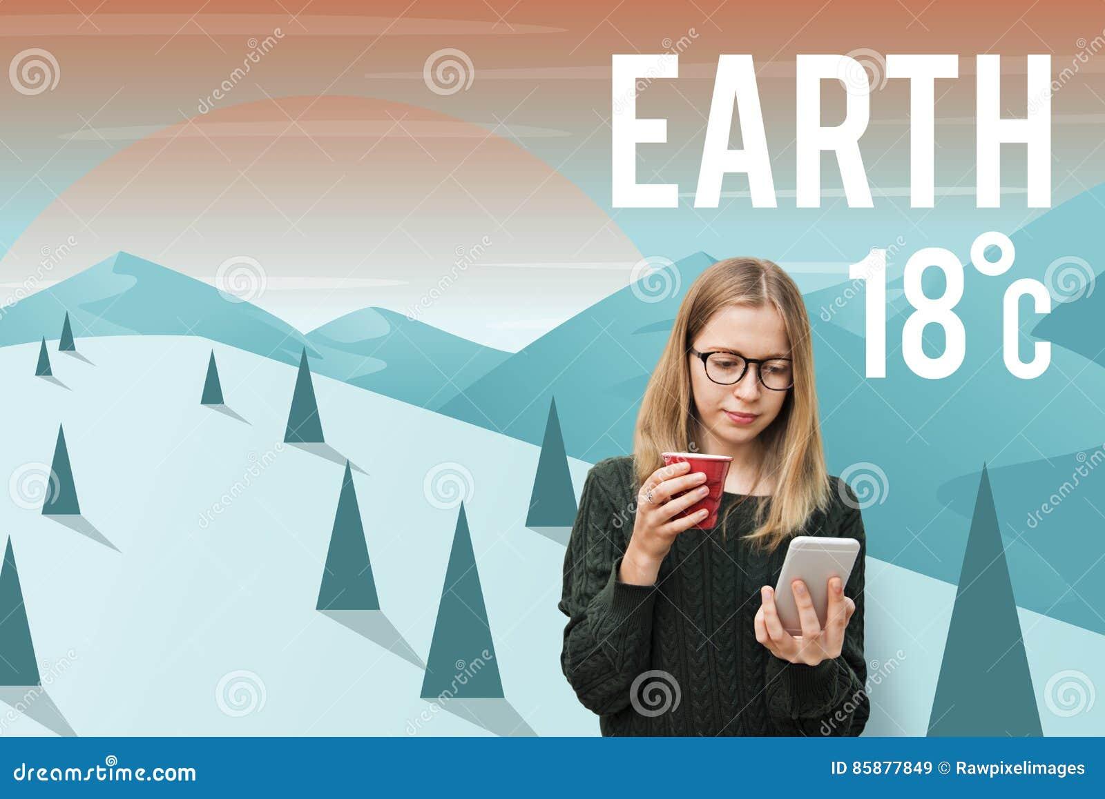 地球气候生态环境保护概念