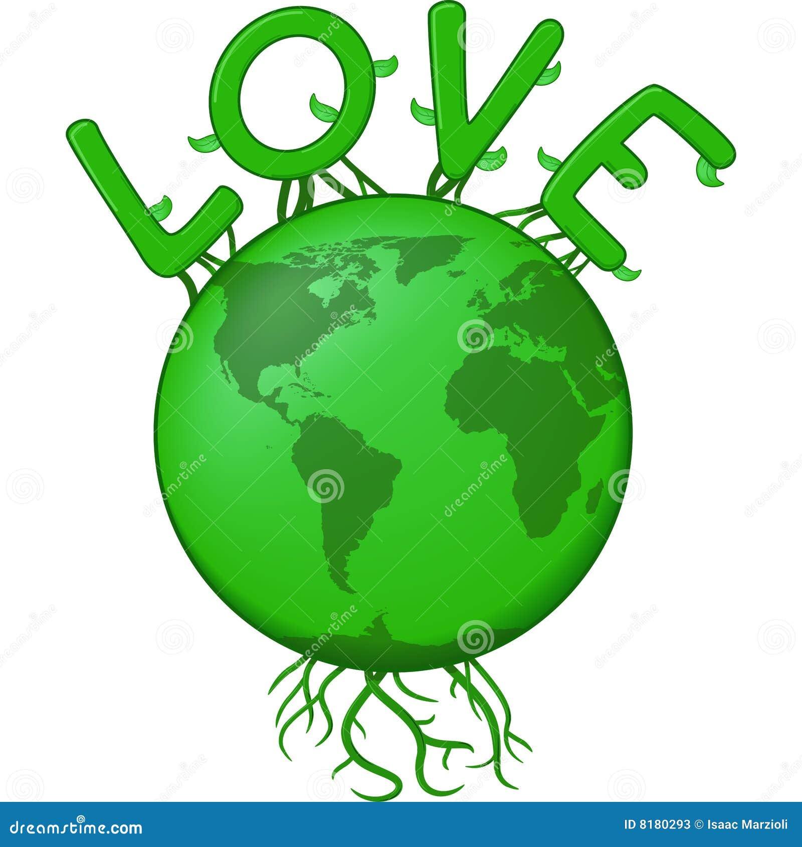地球绿色例证爱向量.