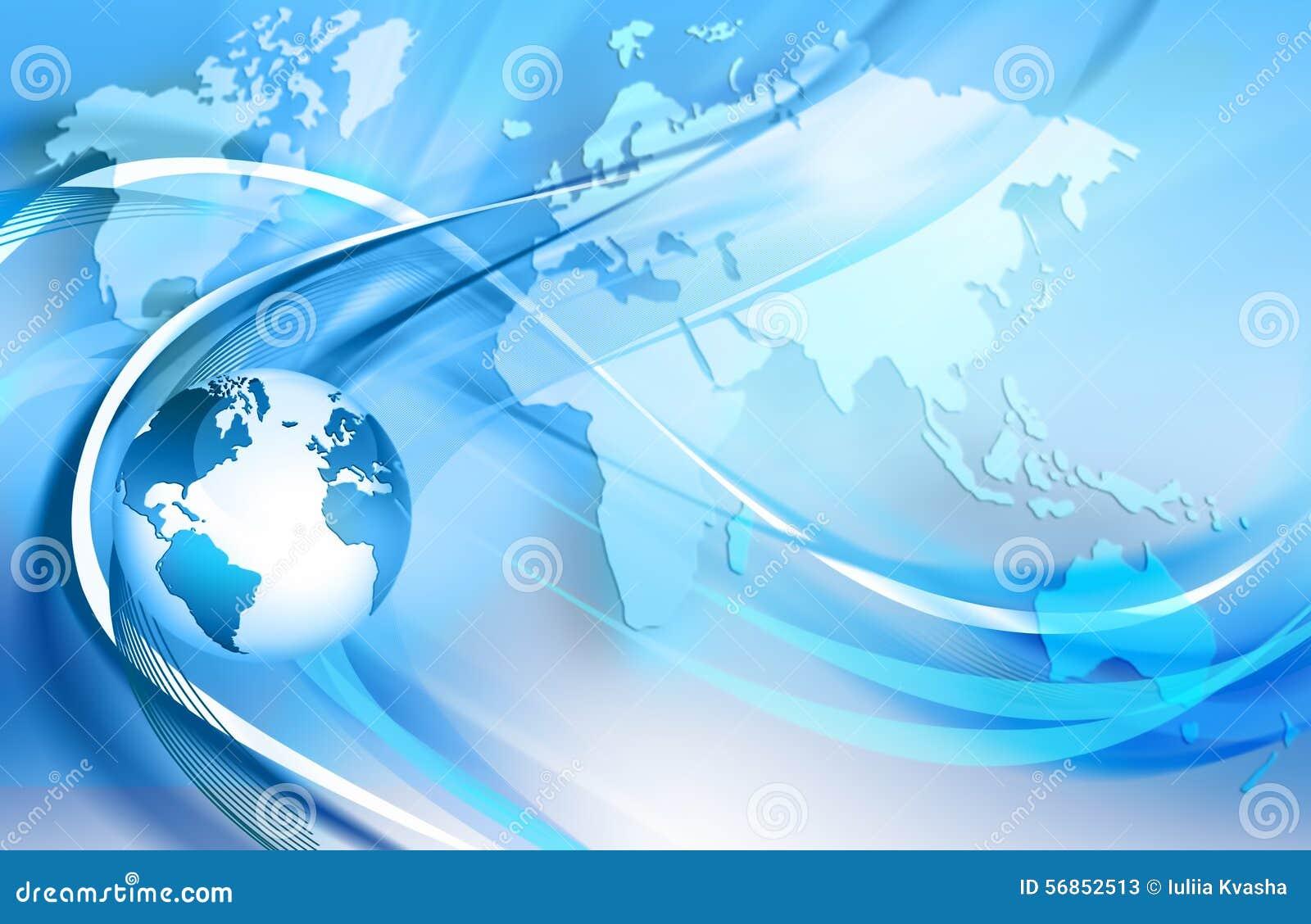 地球,象征互联网连接,无线,电视通信光线的闪光,移动通信.图片