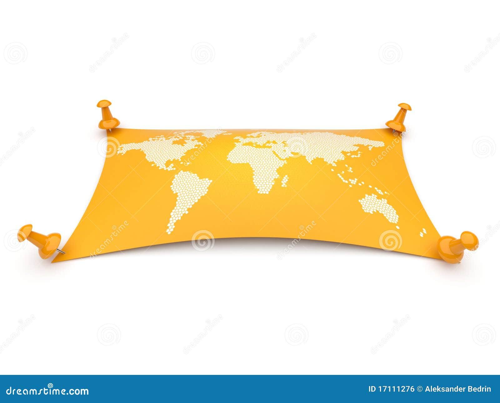 地理查出映射旅行世界