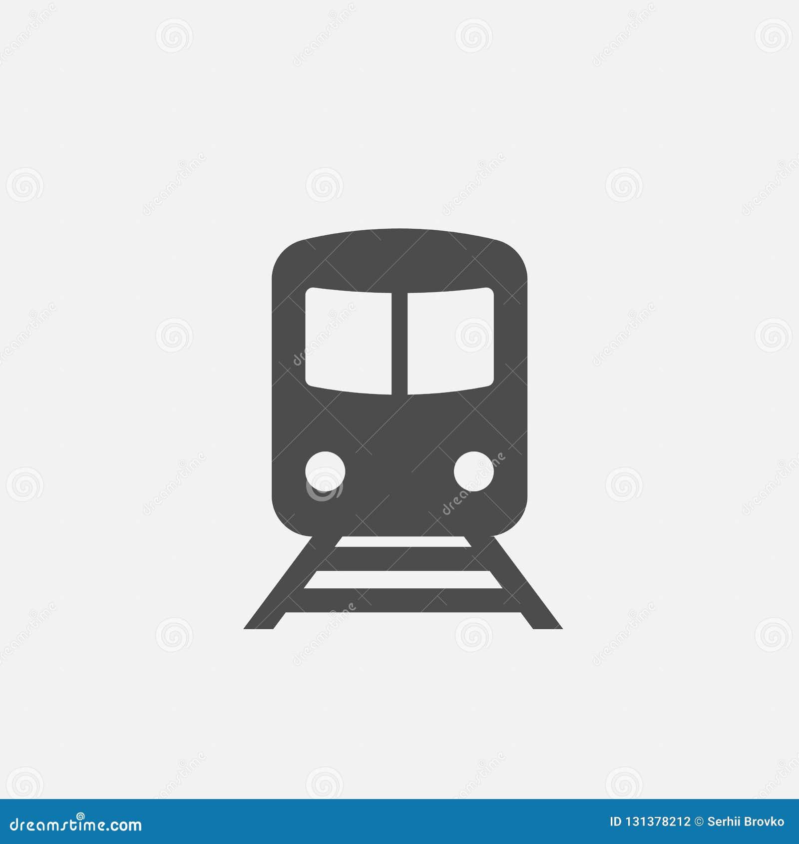 地铁象 地铁标志 火车标志 在空白背景查出的图标 也corel凹道例证向量