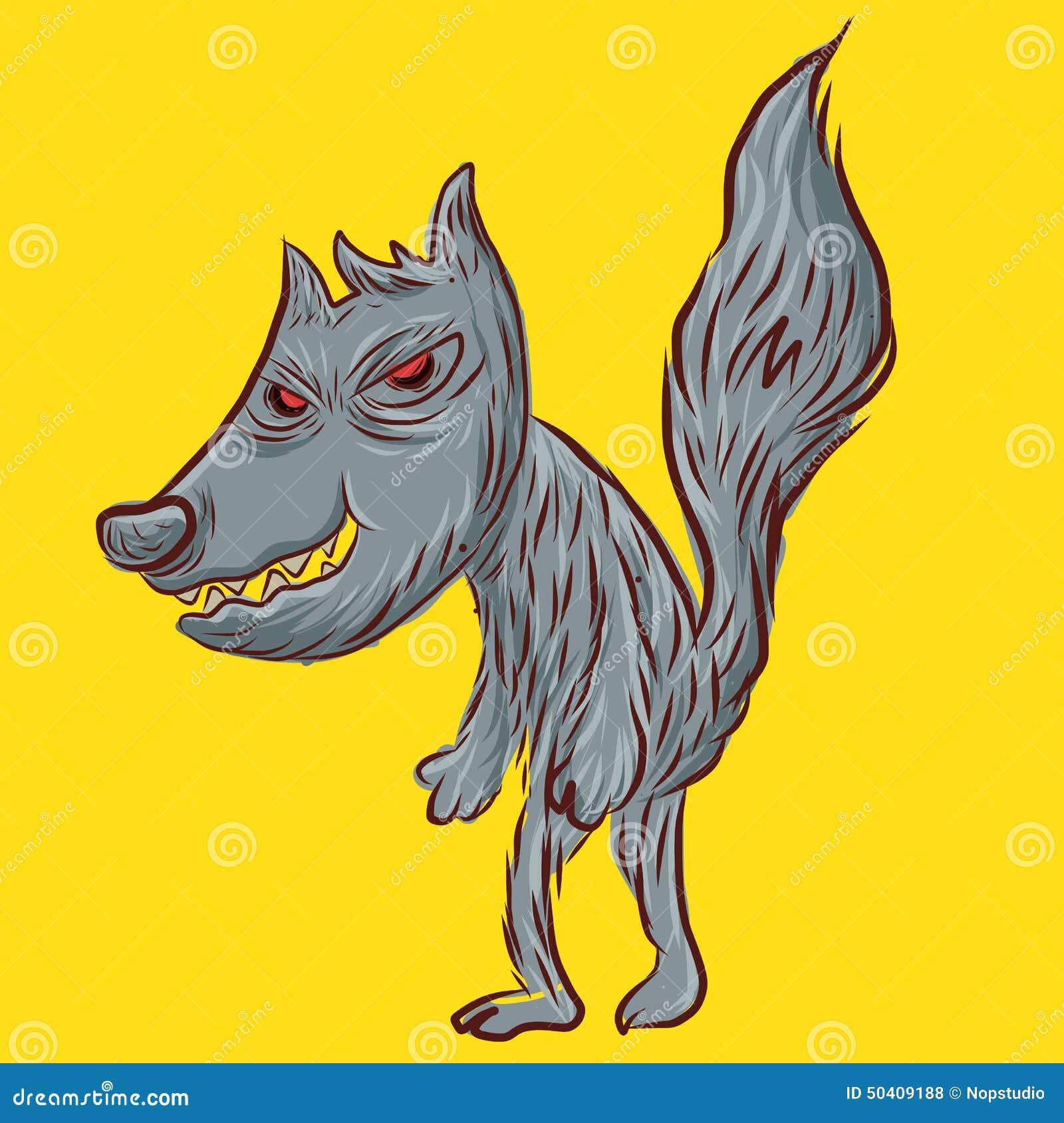 黄色片五太狼_坏狼,乱画狼,在黄色背景的动画片.