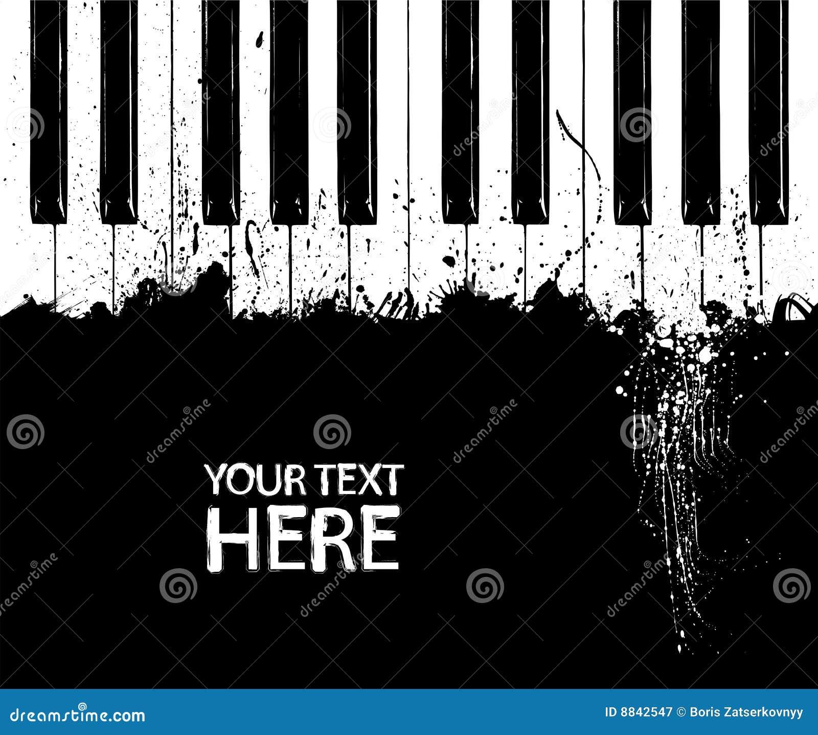 坏的关键字钢琴