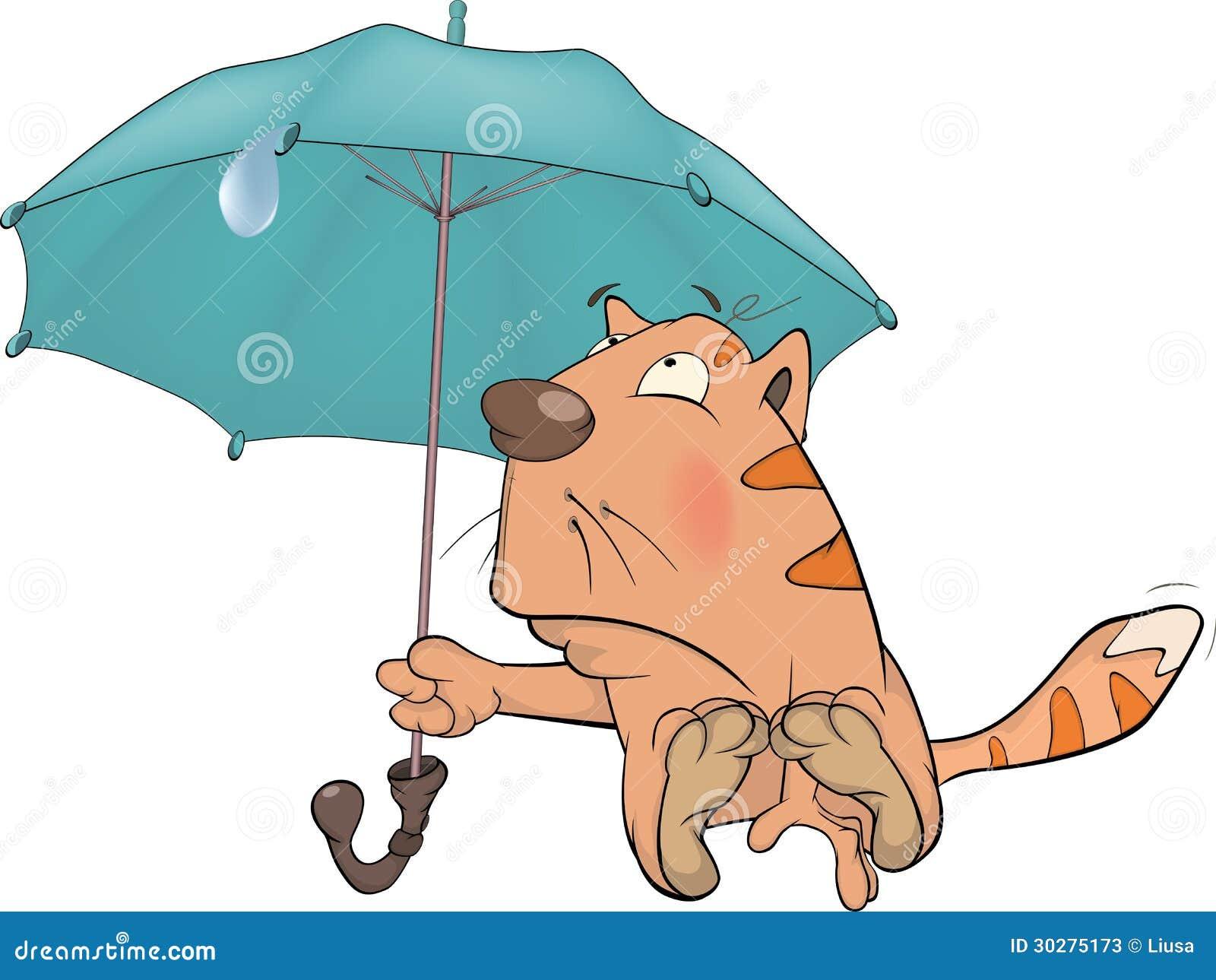 猫和伞。 动画片