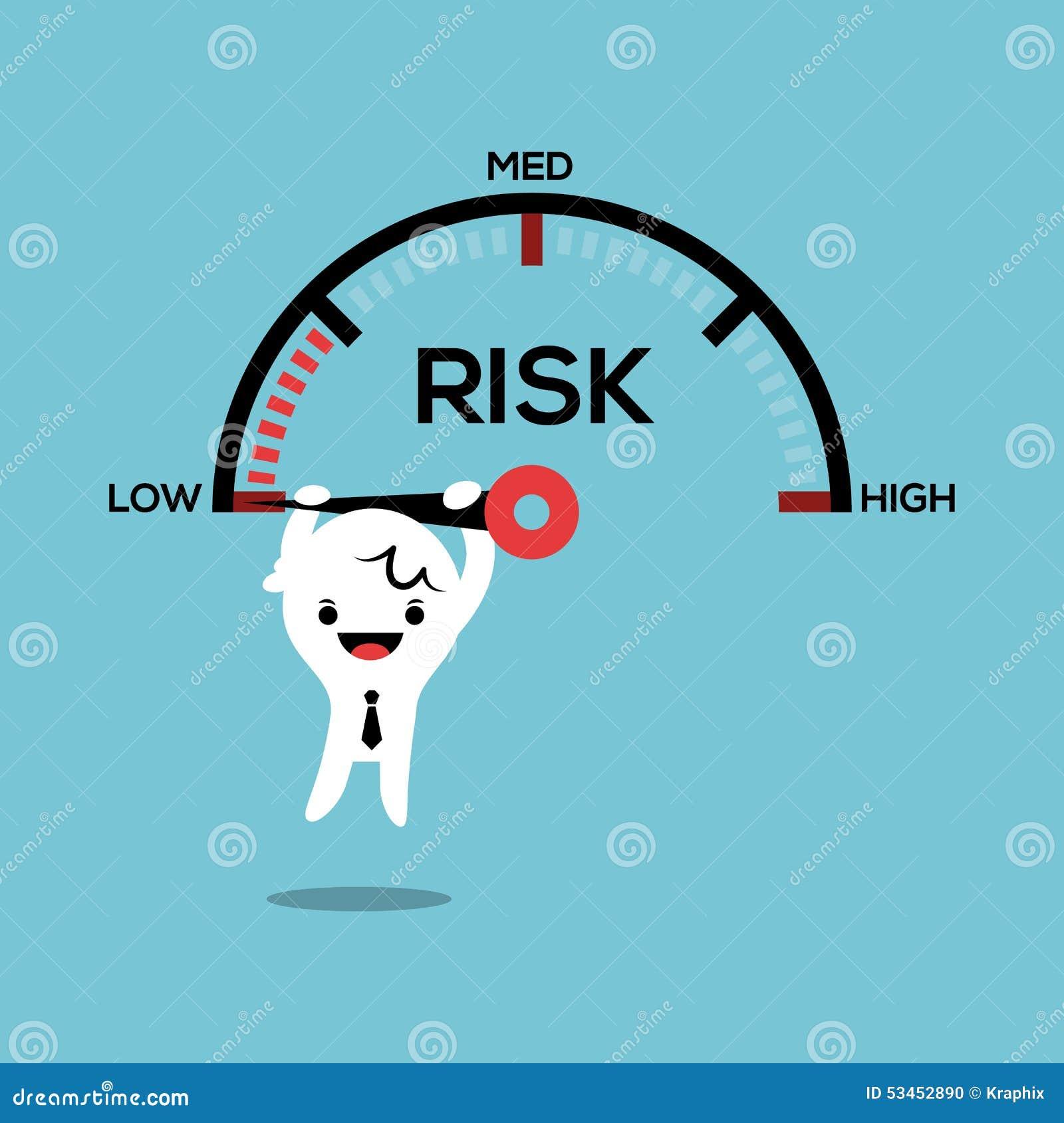 垂悬在针速度测量仪风险管理conce的商人