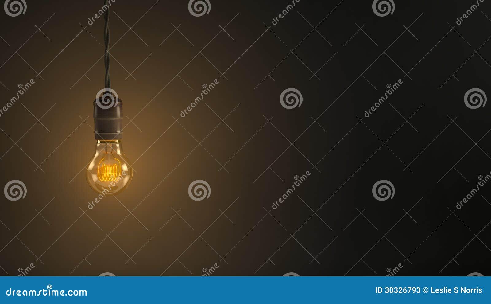 垂悬电灯泡的葡萄酒