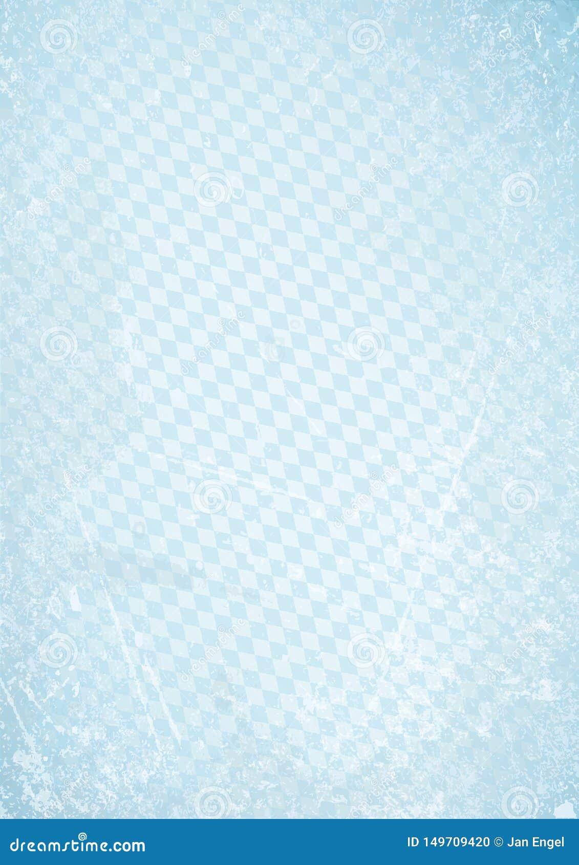 垂直的慕尼黑啤酒节减速火箭的纸背景对角金刚石样式蓝色