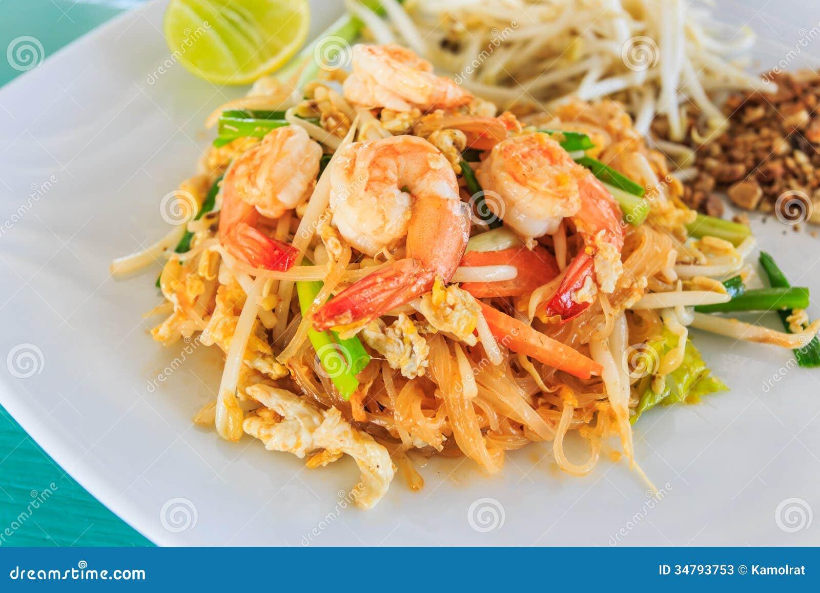 垫泰国或炒饭棍子用虾