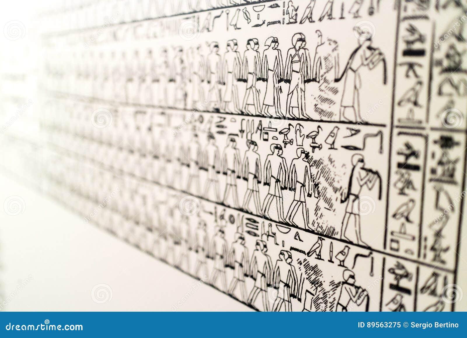 从埃及博物馆的细节
