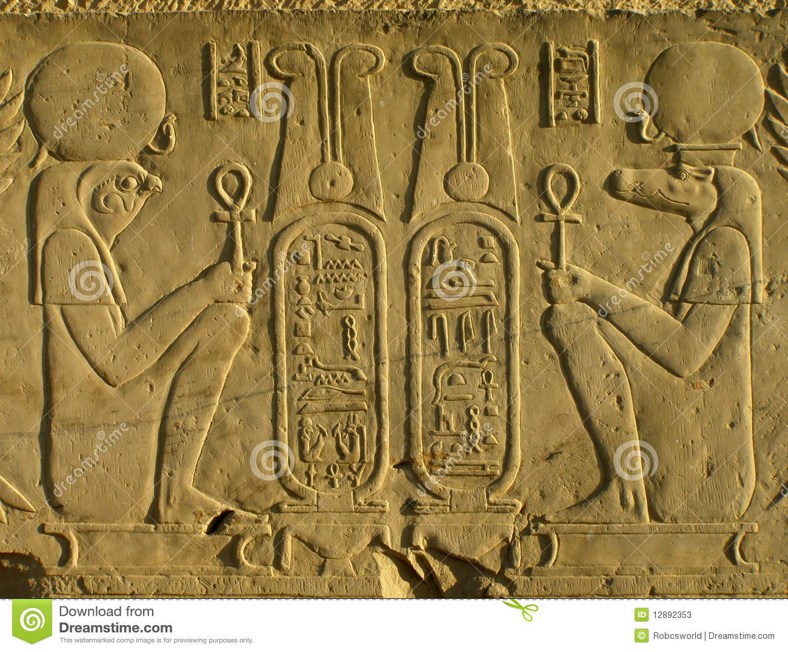 埃及pharoahs寺庙墙壁