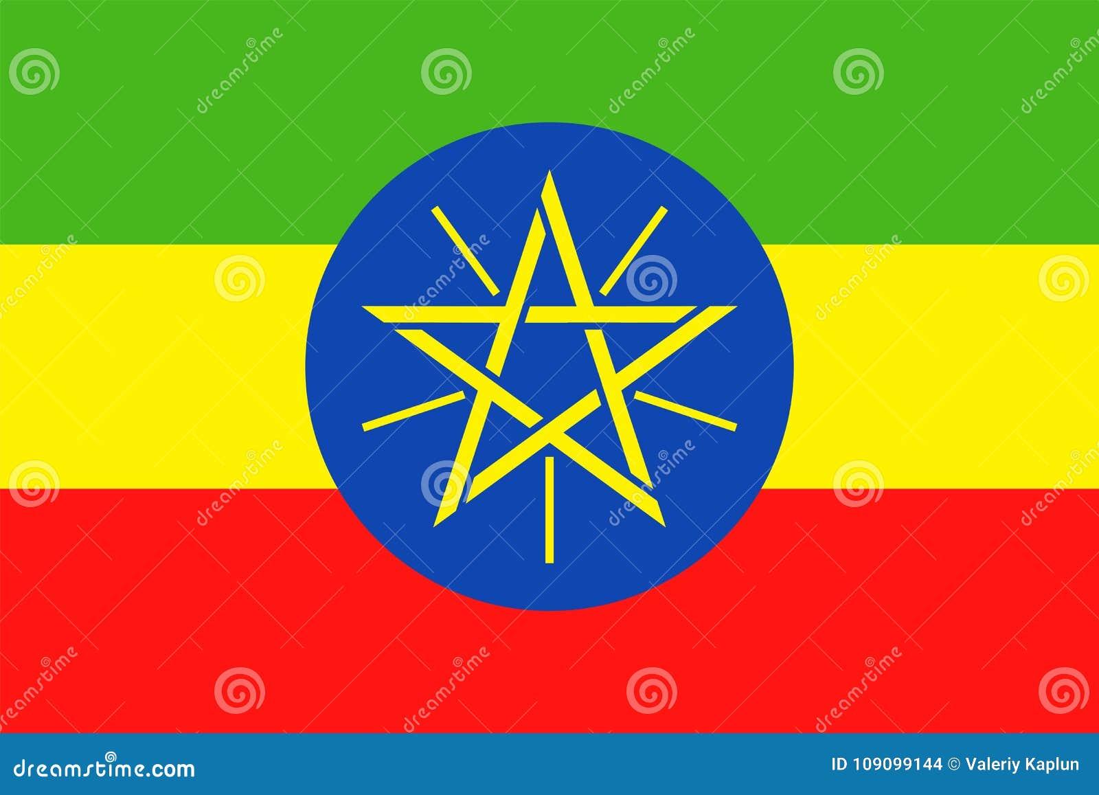 埃塞俄比亚旗子传染媒介平的象