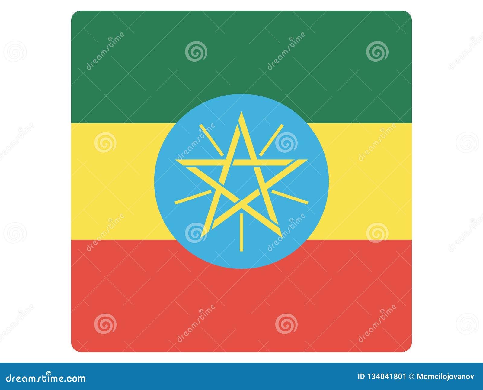 埃塞俄比亚的方形的旗子