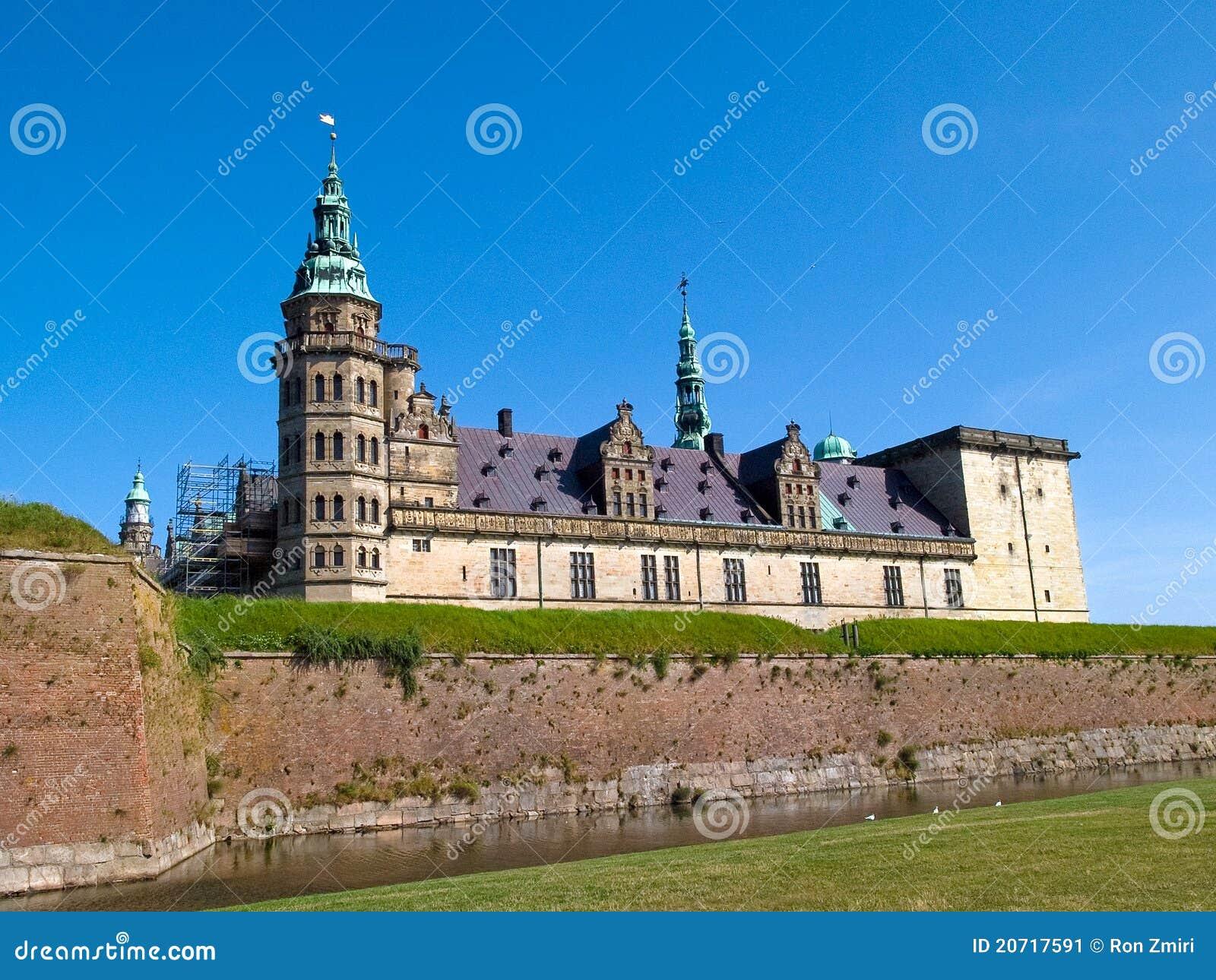 城堡丹麦小村庄kronborg