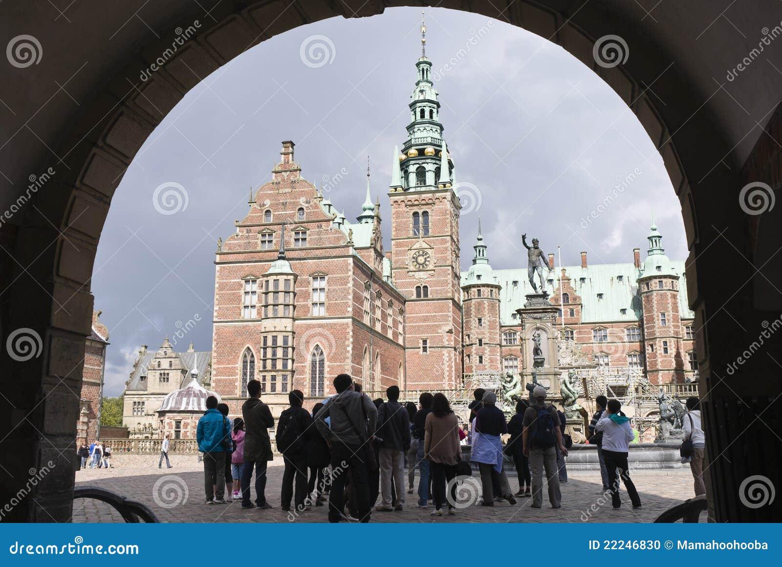 城堡丹麦菲特列堡希勒勒游人