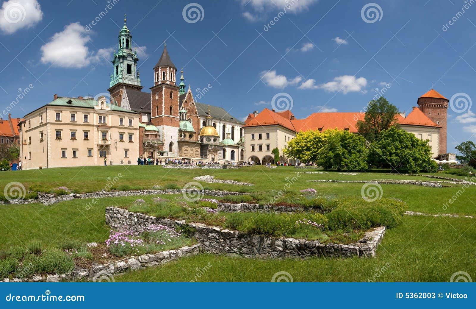 城堡克拉科夫全景波兰wawel