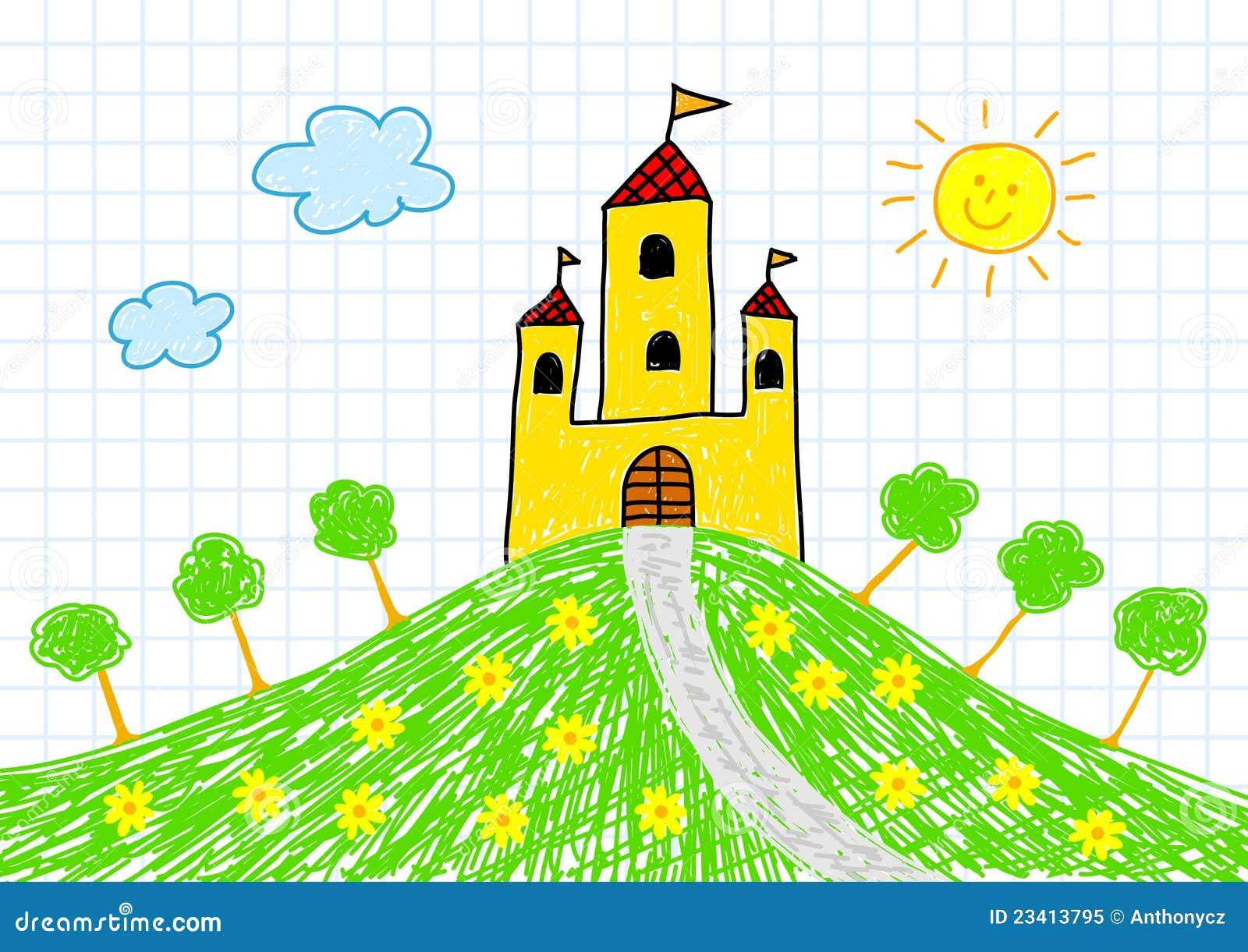 城堡图画黄色